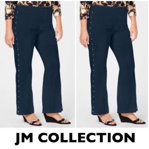 JM Collection Navy Jeweled Leggings XS
